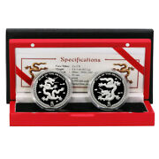 Palau Year Of The Dragon 5 2012 .999 Silver Coin Proof Set Mint Box And Coa