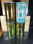 Lot Of 4 Vintage Steel Beer Cans Bob's Special August Schell Brewing Keenan Set