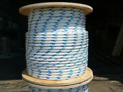 Novatech Xle Halyard Sheet Line Dacron Sailboat Rope 1/2 X 250and039 White/blue