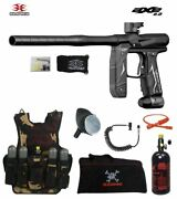 Empire Axe 2.0 Maddog Lt Hpa Tactical Camo Vest Paintball Gun Package Dust Black