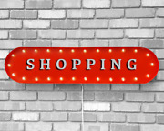 39 Shopping Shop Store Clothing Home Vintage Rustic Metal Marquee Light Up Sign