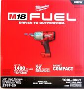 2767-20 Milwaukee New In Box Fuel M18 1/2 Cordless Brushless Impact Wrench 18v