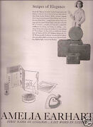 50and039s Andy Warhol Illustrated 2-page Amelia Earhart Luggage Ad 1957