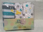 Nwt Little Bedding Nojo 3 Pc Crib Sheets Baby Twinkle Blue Gray Stars Unisex