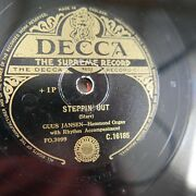 78rpm Guus Jansen Steppin` Out / Shoes With Wings On Hammond Organ