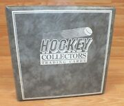 Hockey Collectors Trading Cards Grey Binder With 400 + Collectible Hockey Cards