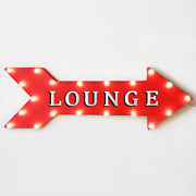 36 Lounge Lobby Waiting Area Hotel Rustic Metal Marquee Arrow Light Up Sign