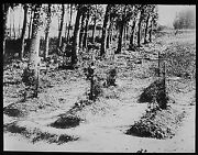 Glass Magic Lantern Slide After The Battle Graves In Northern France Ww1 Photo