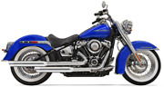 Bassani Chrome 2 Into 2 Staggered Exhaust System Pipes Mufflers Harley Softail