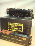 Car And Locomotive Brass 2-rail O Ga Western Md 4-8-4 And Tender Ob Fix/parts Deal