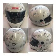 Rare Full Size Autographed Signed Nascar Driver Authentic Helmet Earnhardt Petty