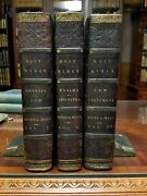 The Holy Bible 3 Vol 1817 D'oyly And Mant Large Quartos Leather Hand-colored Illus