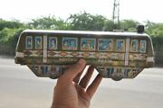 Vintage '786' Moscow Train Litho Train Cable Car Tin Toy