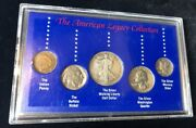 American Legacy Collection Five Us In Presentation Case 1993 Ssca 90 Silver