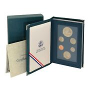 Usa Prestige Set Constitution Silver Dollar 1987 S Proof Us Mint Box And Coa