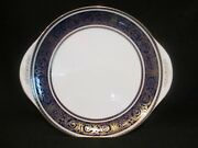 Royal Doulton - Imperial Blue - Handled Cake Plate