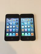 Lot Of 2x Apple Ipod Touch 4th Generation Black 8 Gb - Dead Pixels On Lcd