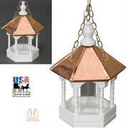 22andrdquo Copper Top Bird Feeder - Hanging Gazebo With Spindles Amish Handmade In Usa