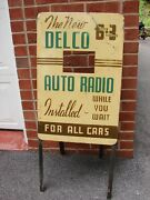 30s 40s Delco Gm Antique Car Radio Dealer Promotional Radio Display Chevrolet Ol