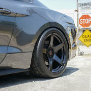 Project 6gr Five 19x10 Satin Black Concave Wheels For S197 Mustang Gt V6