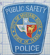 Texas, City Of Mustang Ridge Public Safety Police Dept Patch