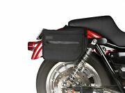 Thrashin Supply Black Day Tripper Essential Throw Over Saddle Bags Pack Harley