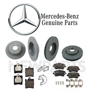For Mercedes W203 Front And Rear Brake Discs And Pads And Engine Mounts Kit Genuine