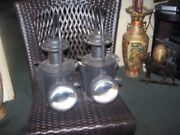 Antique Carriage Coach Lamps With Magnified Lens And A Red Lens