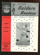 December 8 1963 Afl Football Program San Diego Chargers At Oakland Raiders Vgex