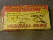 Vintage Antique Louis Marx Deluxe Arcade Electric Pinball Game Toy Box Only 60s
