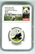2018 8 Canada Silver Ngc Sp70 Panda Peaceful Friendship First Releases Rare