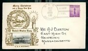 Uss Potomac Roosevelt Yacht Christmas Greeting Envelope And Cancellation 1940
