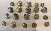 Vintage Job Lot Mixed Buttons Military Livery Army Navy Crown Anchor Lot O