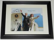 President Jimmy Carter And Rosalynn Autographed 8x10 Color Photo Framed And Matted