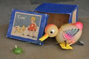 Vintage Wind Up Boxed C.k Trademark Cuke Duck Cathing Frog Toy, Japan