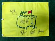 2007 Masters Golf Flag Signed Autograph 5 Winners Aftal Coa Reed Coody Scott