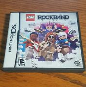 Nintendo Ds Lego Rockband - Complete Case Manual Game - Free Shipping