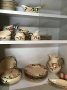 Franciscanware Desert Rose Earthenware 6 Place Settings Serving Pieces And Extras