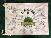 Us Open Golf Flag Signed 16 Previous Winners Champions Autograph Aftal Coa