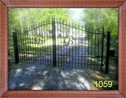 New Orleans Style Steel Driveway Gate 11and039 Or 12and039 Home Security Veteran Discount