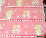 Precious Moments Girl Wrapping Paper Sheet Gift Book Cover Party Wrap X2 Pink Nw