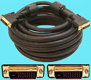 Ultra Gold Video Cable Dvi-d Dual Link 25ft Cl2 24awg Dvi Monitor Male To Male