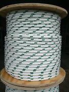 Novatech Xle Halyard Sheet Line Dacron Sailboat Rope 1/2 X 75and039 White/green