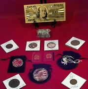Junk Drawer Lot Eagle Necklace+ Proof And Mint Coins /gold 100/ Silver+much More