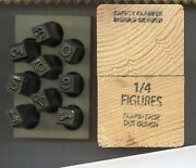 1/4 Round Face Dot Number Set Low Stress Dot Hand Stamps Steel Stamps