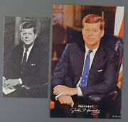 1963 President John F Kennedy Oversized Postcard And Prayer Card Collectibles