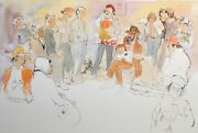 William Papas Street Musicians -pike Place Seattle Signed Hand Colored Etching