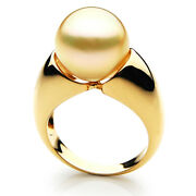 New Pacific Pearls® Australian South Sea 13mm Golden Pearl Ring Retirement Gifts