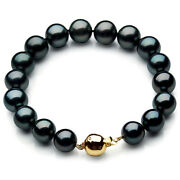 Pacific Pearlsandreg Tahitian 10-12mm Gold Diamond Pearl Bracelets Gifts For Yourself