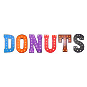 Donuts Doughnut Donut Doughnuts Shop Rustic Vintage Metal Marquee Light Up Sign